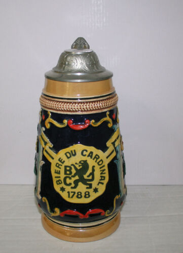 Biere du Cardinal  1788 Swiss LIDDED BEER STEIN..
