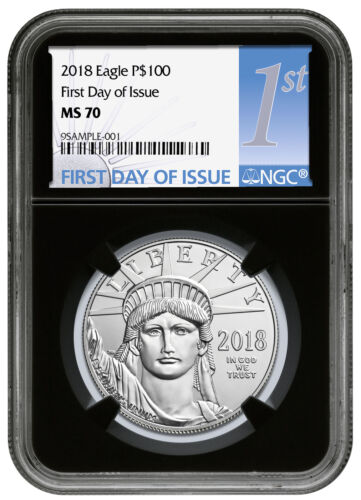 2018 1 oz Platinum American Eagle $100 Coin NGC MS70 FDI Black Core SKU52401