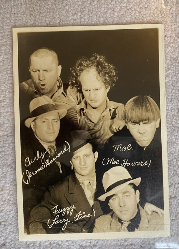 1937 Three Stooges Fan Card Original Issued By Columbia Studios RARE!!!