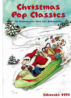 Akkordeon Noten : Christmas Pop Classics leicht-leichte Mittelstufe WEIHNACHTEN