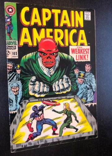 CAPTAIN AMERICA #103 (Marvel 1968) -- Jack Kirby -- F/VF (B)
