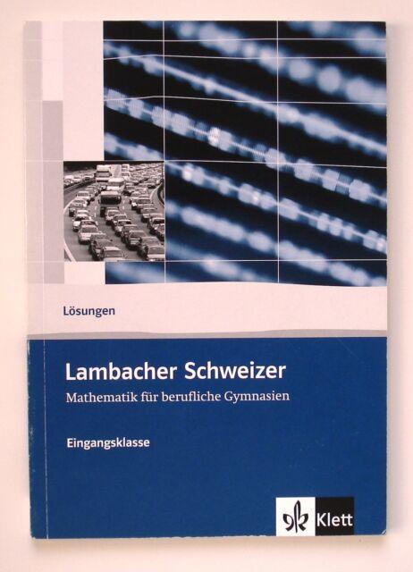 Lambacher Schweizer Berufliches Gymnasium. Lösungsheft. Klasse 11 (2008, Taschen