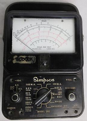 Multimeter Simpson 260 Vintage Overload Protection Volt Ohm Measurement Test