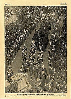 Bilder vom Begräbnis der englischen Königin Viktoria in London von 1901