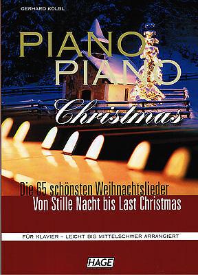 Klavier Noten : PIANO PIANO Christmas leichte Mittelstufe WEIHNACHTEN (Hage)