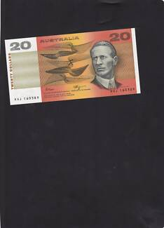 AUSTRALIAN PAPER $20 BANKNOTE FROM 1990
