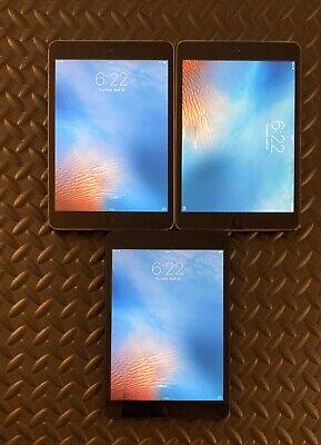 Lot of 3 Apple iPad Mini - Wi-Fi /16GB/ Silver Space Gray A1432 1st Gen Working