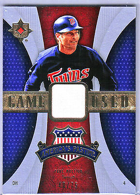 2007 Upperdeck Ultimate PAUL MOLITOR America's Pastime Jersey TWINS!!!! on Rummage