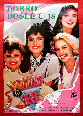 WELCOME TO 18 1986 COURTNEY THORNE-SMITH MARISKA HARGITAY RARE EXYU MOVIE POSTER