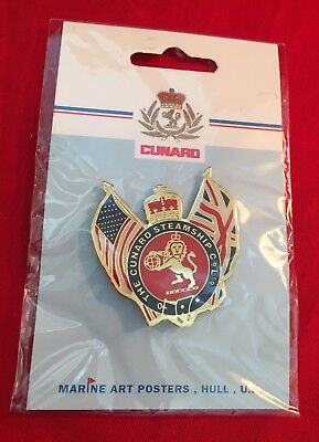 *New, sealed* The Cunard Steamship Co Ltd. Crest Pin by Marine Art Posters UK