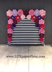 Paper Flower Backdrop Rentals - Swipe for more pictures