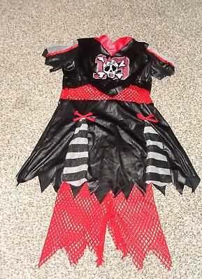 Deceptions 2 Girls Cheerless Leader Costume Dress Pants Pom Poms Size 10-12 EUC  (Cheerless Leader)
