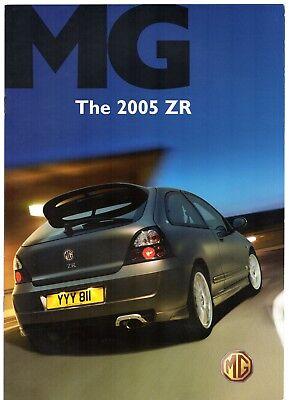 MG ZR 2005 UK Market Sales Brochure 105 120 TD Trophy SE