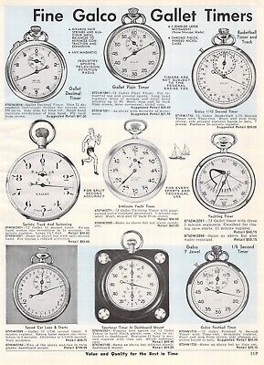1964 Vintage Ad Galco Gallet Timers Sprint Yacht Track Swim Sportscar 1 Page for sale  Shipping to Ireland