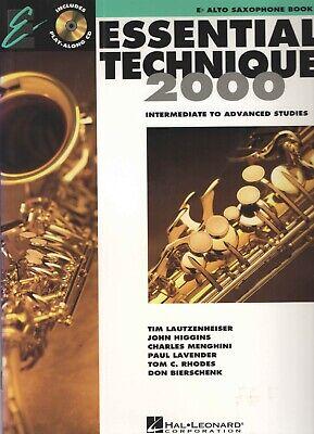 Essential Technique 2000 Eb Alto Saxophone Book 3 with CD 2000 Alto Saxophone Book
