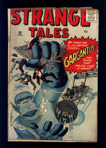 "Strange Tales #80 VG- Kirby, Ditko, ""Gargantus!"", Horror, Science-Fiction"