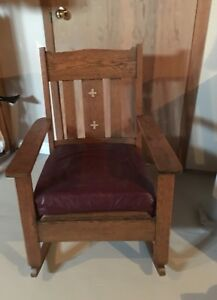 Oak Mission style Rocker