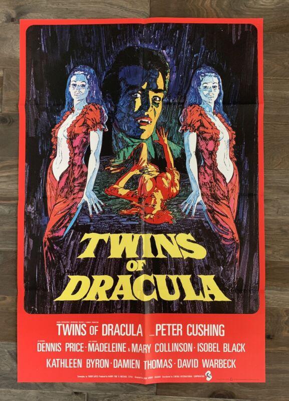 Twins of Dracula 1971 Peter Cushing one-sheet