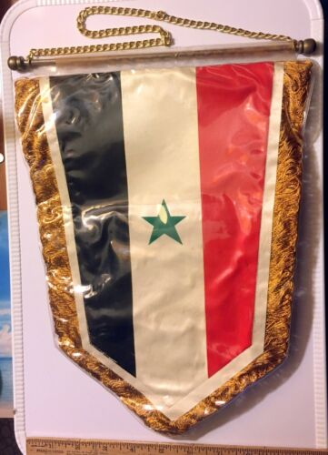 Yeman Arab Replublic Yemeni Scouts Guides Pennant Flag In Plastic Cover Used