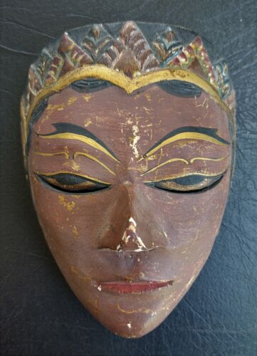Traditional Javanese Folklore Topeng Dance Wood Mask