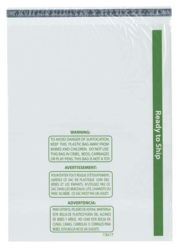 """Plymor Ready to Ship 1.5 Mil Wicketed Poly Bags, 13"""" x 17"""" (Pack of 500)"""