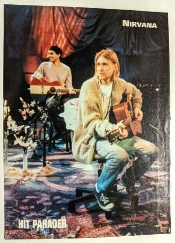 NIRVANA / KURT COBAIN / DAVE GROHL MAGAZINE FULL PAGE PINUP POSTER CLIPPING (3)