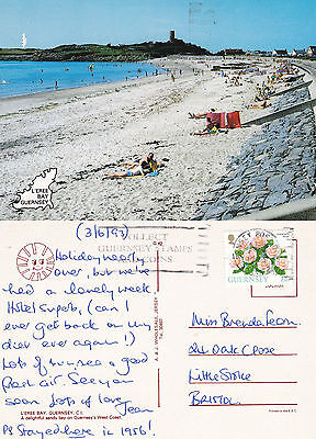 1993 L'EREE BAY GUERNSEY CHANNEL ISLANDS COLOUR POSTCARD