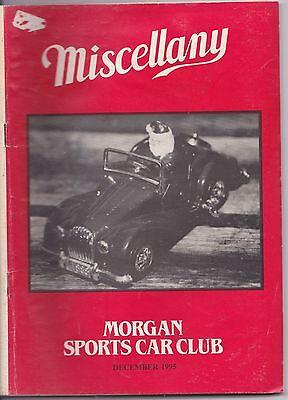 MISCELLANY MORGAN SPORTS CAR CLUB MAGAZINE DECEMBER 1995 POST FREE
