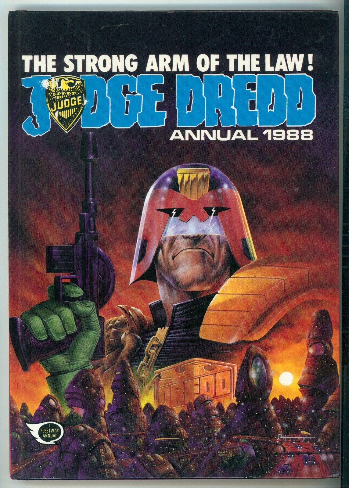 JUDGE DREDD ANNUAL 1988 IPC MAGAZINES 1987 A FLEETWAY ANNUAL