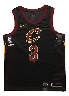 Isaiah Thomas Cleveland Cavs Nba Black Nike Swingman Mens Jersey 48 Large  3 Nwt