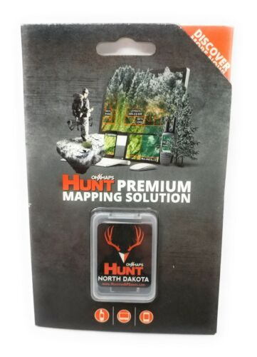 onXmaps HUNT GPS Chip for Garmin Units + 1-Year Premium Membership, North Dakota