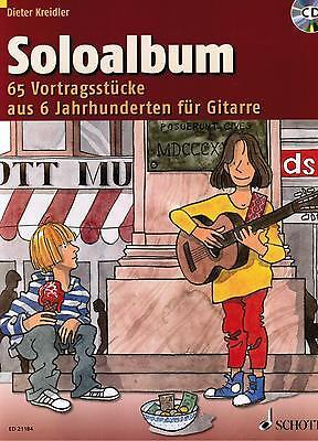 Gitarre Noten : Soloalbum - 65 Vortragsstücke mit CD  (Kreidler) leicht - ms
