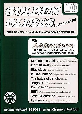 Akkordeon Noten : Golden Oldies 10 mittel  m. 2. Stimme (ad. lib.)