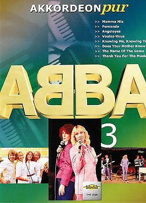 Akkordeon Noten : ABBA Heft 3 - mittelschwer - (Akkordeon pur) VHR 1810