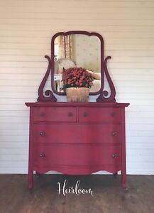 Antique Serpentine Dresser