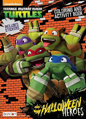 NEW Teenage Mutant Ninja Turtles 32-Page Halloween Color/Activity Book w/ Stkrs](Teenage Halloween Games)