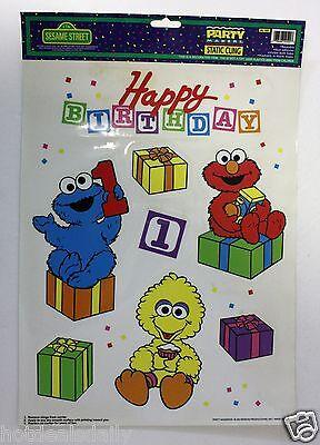 SESAME STREET HAPPY BIRTHDAY WINDOW CLINGS GROVER ELMO BIG BIRD PRESENTS YOUR #1](Sesame Street Happy Birthday)