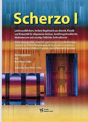 Kirchenorgel Noten : SCHERZO 1 heitere Orgelmusik leichte Mittelstufe - mittel