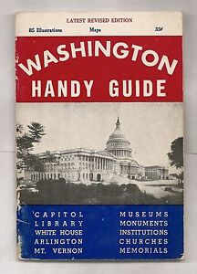 WASHINGTON HANDY GUIDE 1952 D.C. ILLUSTRATED PLUS FOLDOUT MAP AND POSTCARD