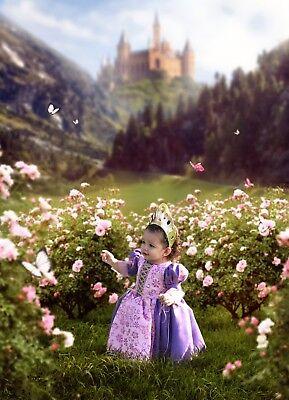 Rapunzel Disney Costume Princess Dress Tangled Costume Dress