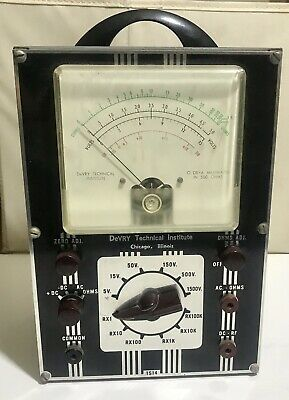 Vintage Devry Technical Institute1955 Ohmmetervoltmetermodel 1s14. Untested