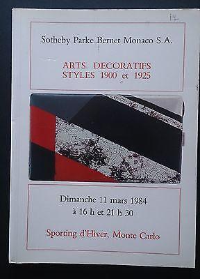 Sotheby Parke Bernet Monaco Decorative Art 1900 1925 Wiener Werkstatte Majorelle