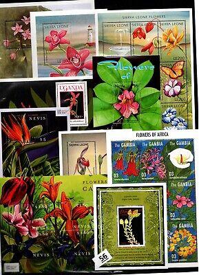 BL 10 S/S - MNH - MIX - NATURE - FLORA - FLOWERS - ORCHIDS
