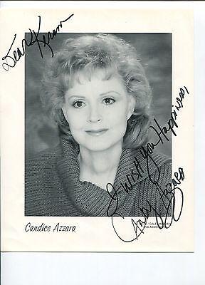 Candice Azzara Caroline in the City Twilight Zone Soap Signed Autograph Photo