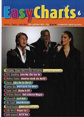 Klavier / Keyboard Noten : Easy Charts Band 6 - leicht - HITS POP / ROCK MF3506