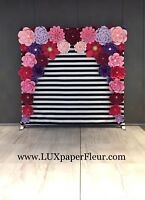 Paper Flower Backdrop Rentals- swipe for more pictures