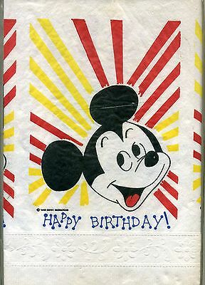 Birthday Paper Products (Vintage Beach Products Happy Birthday Mickey Mouse Crepe Paper Table)