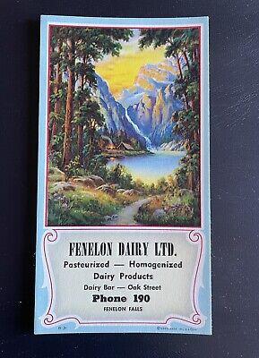 Fenelon Falls Dairy vintage ink blotters