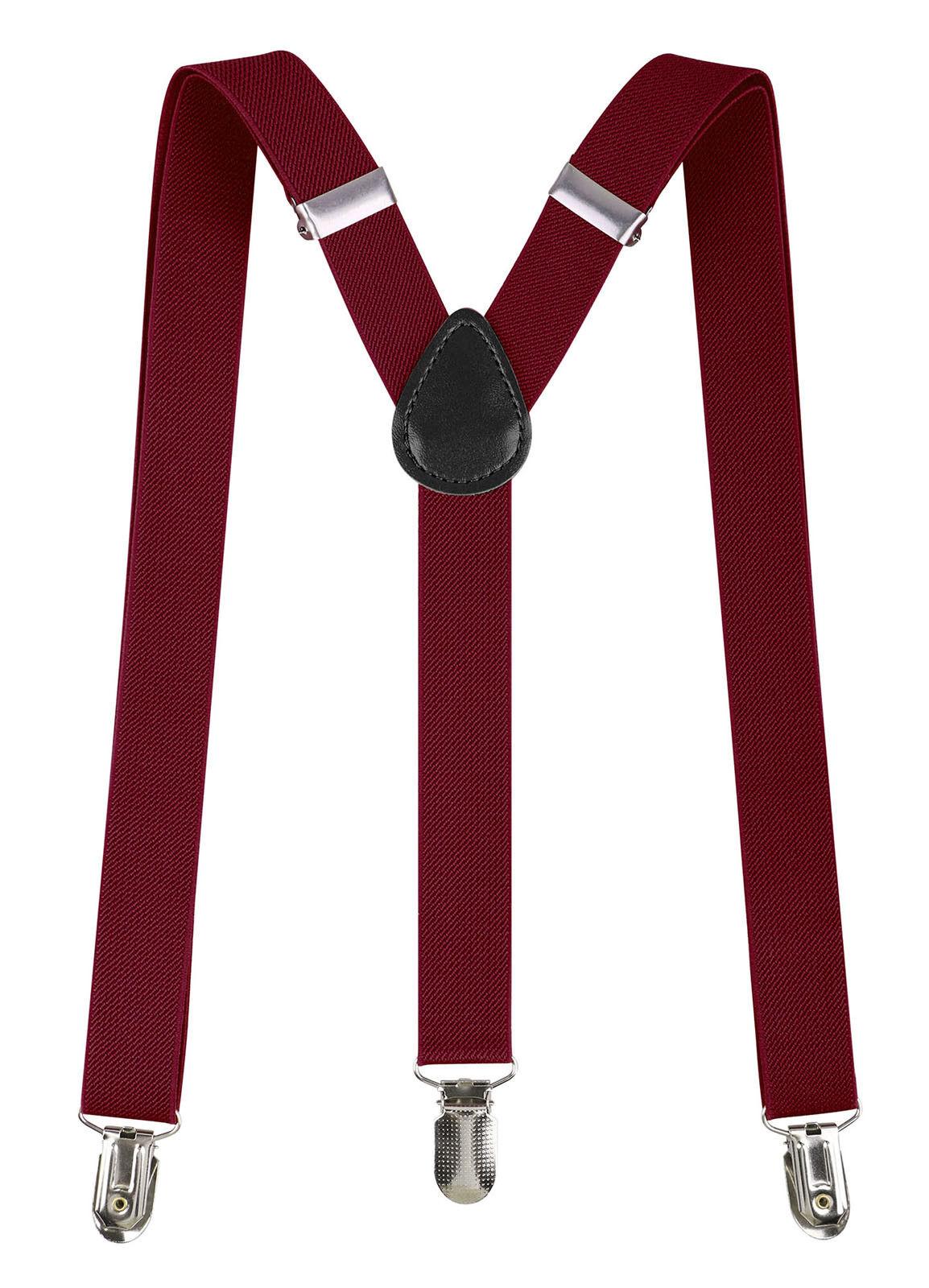 New Adult Mens Women Formal Clip-on Suspenders Elastic Y-Sha