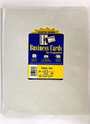 Geographics Printable Business Name Place Cards Granite Gray 250 Ct Perforated Geographics Business Cards